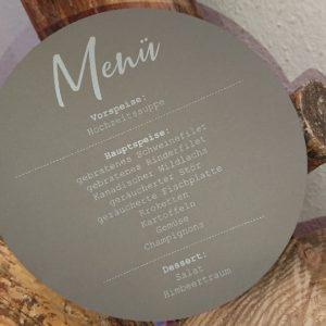 Menükarte - Mareve Design