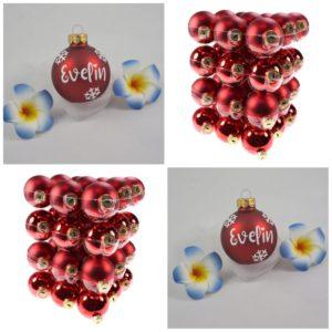 Weihnachtskugel Rot- Mareve Design