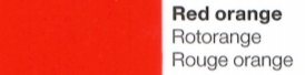 Vinylfolie Rotorange- Mareve Design